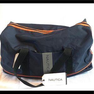 NWT Nautica Medium Size Duffle Bag Blue/Orange